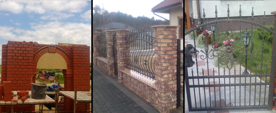 Ogrody, balustrady, ogrodzenia